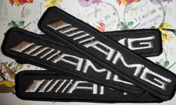 AMG logo patch  mercedes benz  set of four by embroiderypapatedy