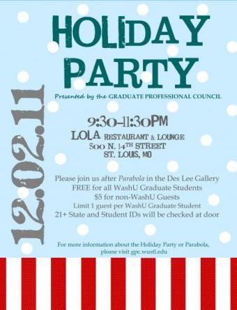 9 best Holiday Party images on Pinterest Christmas parties - holiday party flyer template