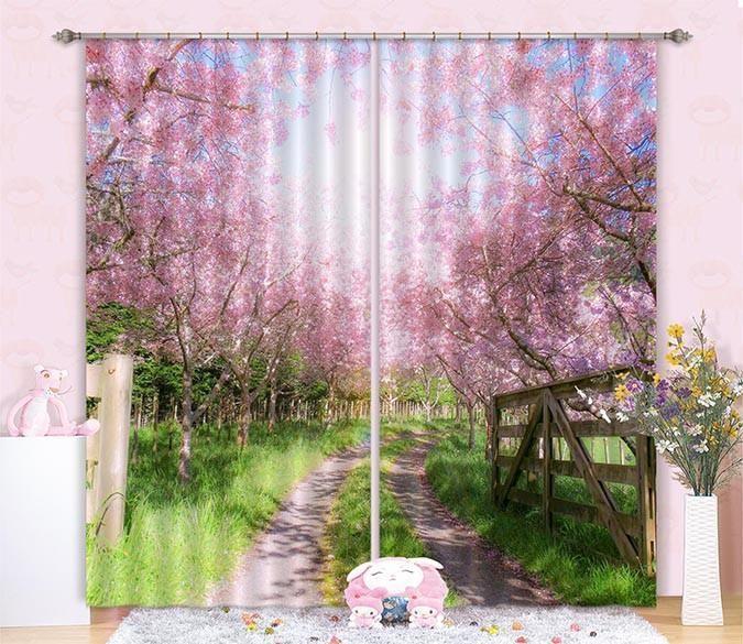 фотообои вид из окна на цветущую вишню работать над видео