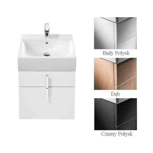Roca DIVERTA Szafka pod umywalkę z dwoma szufladami 45,3 x 42,5 x 51 cm do umywalki Diverta 47 cm biały połysk A856460006