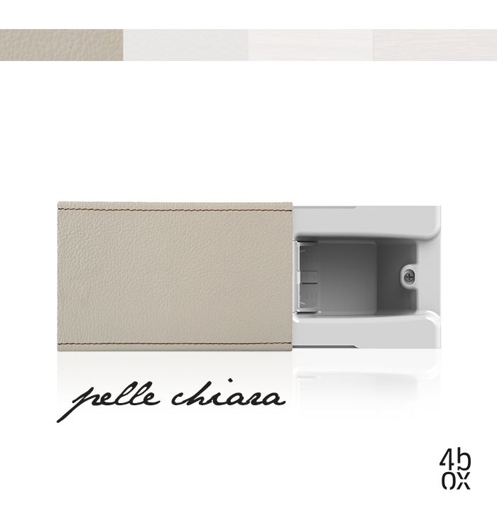 Pelle Chiara The plug is there, but you can't see it. Hide by 4box revolutionises the power socket concept. The plug disappears inside the wall, behind the sliding cover, and the wall always stays free and tidy. Pelle Chiara, Pelle Scura, Legno Chiaro and Legno Scuro: four new styles to customize Hide as you like. #4box #hide #materials2014 #archiproducts #socket #electricrevolution #electricrev #style #home