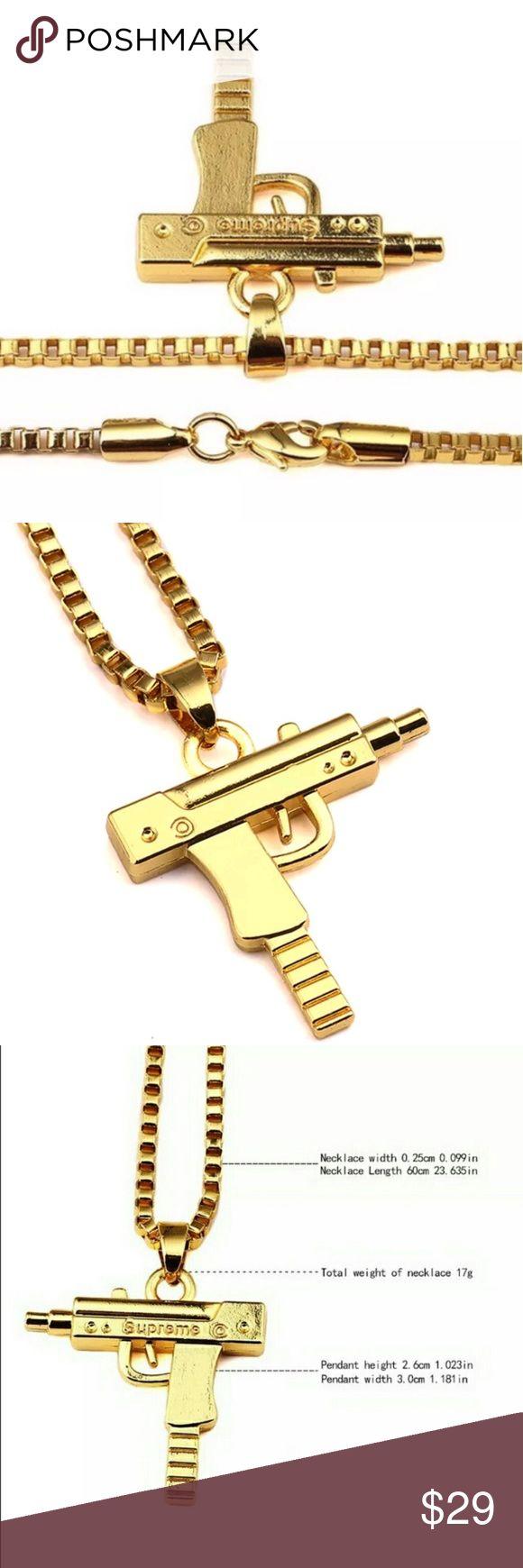GOLD Supreme brand Uzi Necklace/Chain Gawld niggas GOLD Supreme Accessories Jewelry