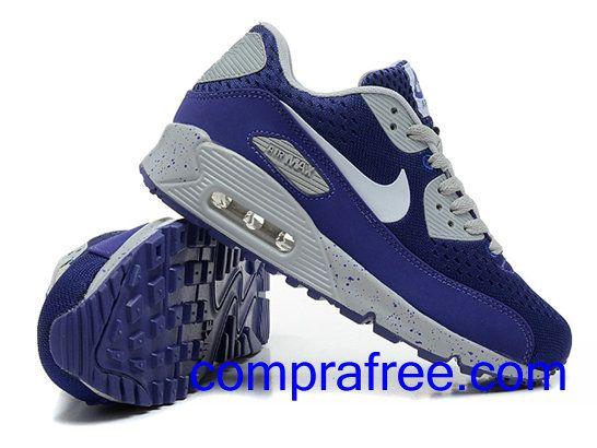 Comprar baratos mujer Nike Air Max 90 Zapatillas (color:azul,blanco) en linea en Espana.