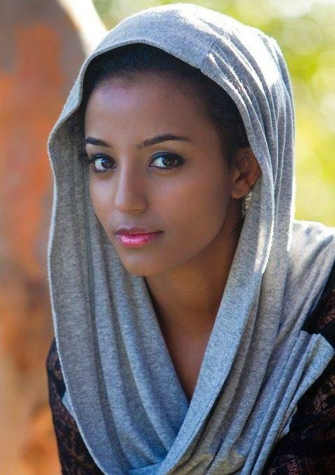 Africa. East Africa. Probably Muslim. Ethiopian women are stunning.