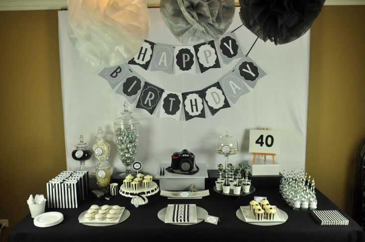 40th birthday party centerpiece ideas 40th birthday for 40th birthday party decoration