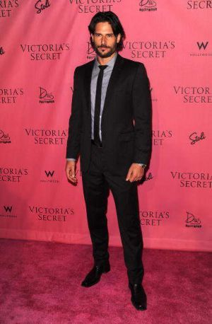 Joe Manganiello, most known for his role in TV series True Blood, sizzles in his Joseph Abboud suit while attending a Victoria's Secret red carpet event.