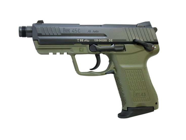 "Wolverine Supplies - Online Gun Store | Product Details | H&K HK45 Compact SD 4.53"" Threaded Barrel Nato Green"