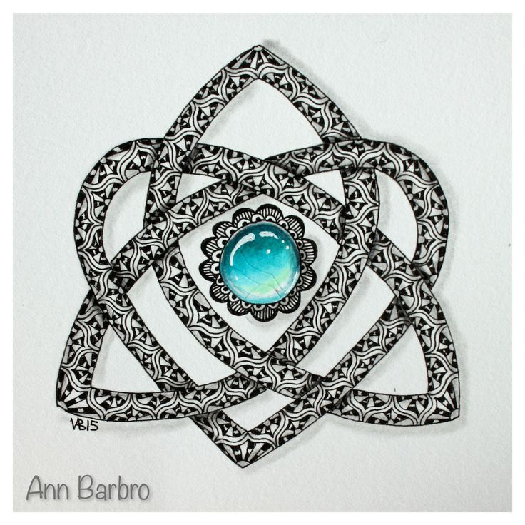 gem ZIA, Celtic Knot and Tangle Copada