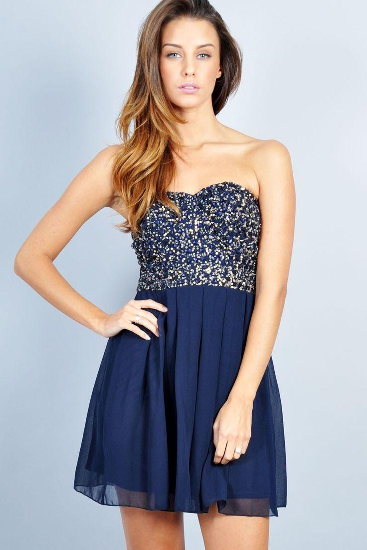 Más de 30 vestidos azules que podrías usar en una fiesta o evento formal | Vestidos Glam