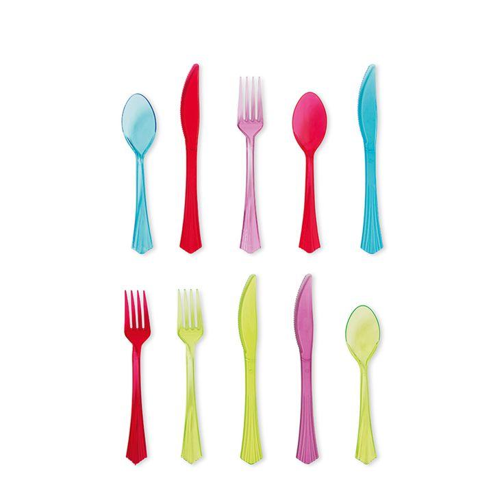 Kata laud neoonsete värvidega ja Tigeri neoonsete söögiriistadega. Ja need on piisavalt tugevat, et saaksid neid soovi korral ka pesta ja uuesti kasutada. 1 €
