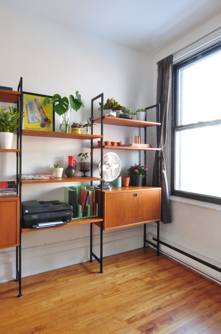 The office vintage shelving unit.