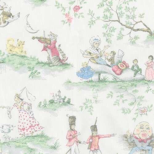 Nursery Rhyme Toile Fabric By The Yard Nursery Bedding