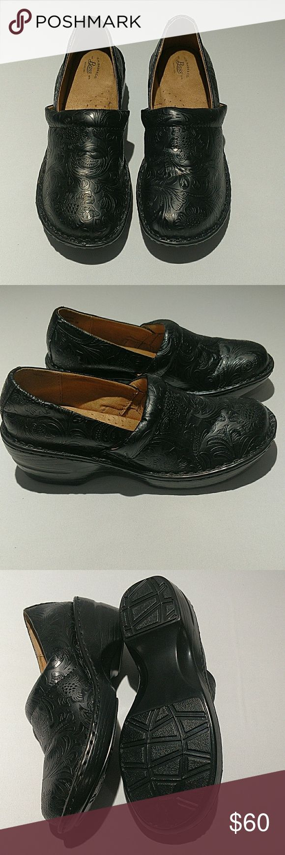 WOMAN'S BASS SHOES- BLACK WOMAN'S BASS SHOES. SHEENA BLACK PATTERN. SIZE 8 M. BLACK. BRAND NEW, NEVER WORN. RETAILS OVER $85! Bass Shoes Mules & Clogs