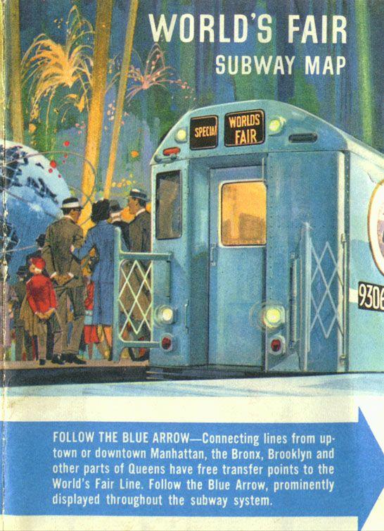 New York City Subway Map 1960s.1964 World S Fair Subway Map Www Nycsubway Org The Dutchman