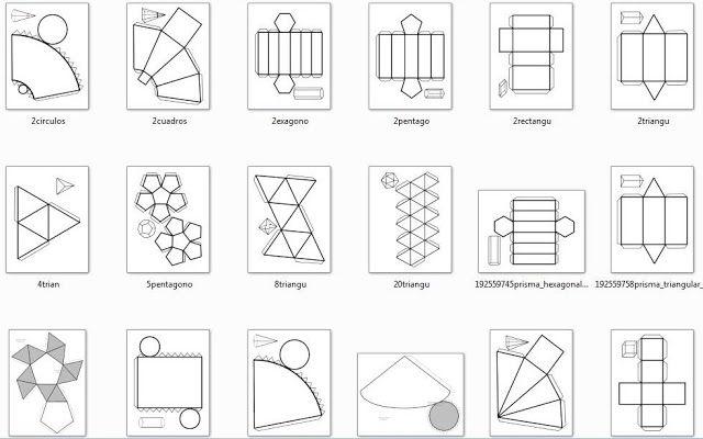 Plantillas Cuerpos Geometricos Para Imprimir Imagui Origami Geometric Shapes Geometry Formulas Shapes Worksheets