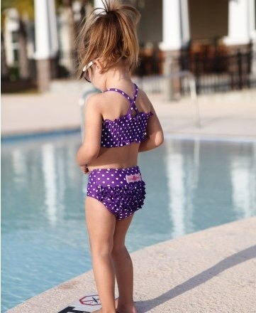 Love her bathing suit so cute