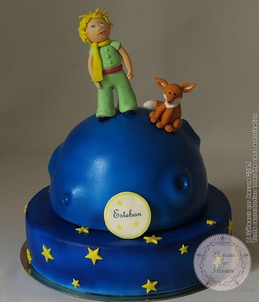 """Gâteau Petit Prince (from <a href=""""http://www.gateauxsurmesure.com/picture.php?/148/category/7"""">Gateaux sur Mesure Paris - Formations Cake Design, Ateliers pâte à sucre, Wedding Cakes, Gateaux d'Exposition</a>)"""
