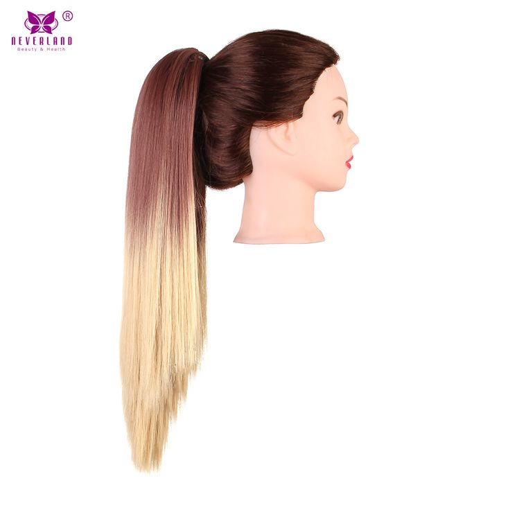 """Neverland 20"""" 50CM Straight Claw Clip On Ponytail Pony Tail Synthetic Hairpiece Ombre Color Two Tone Hair Extensions Hair Tail"""