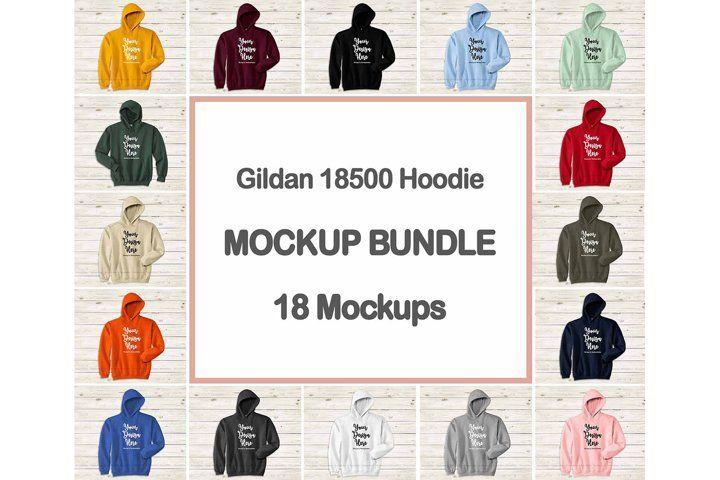 Download Hoodie Mockup Bundle Gildan 18500 Hooded Sweatshirt Mock Up 347509 Clothing Design Bundles Hoodie Mockup Design Mockup Free Psd Mockup Template