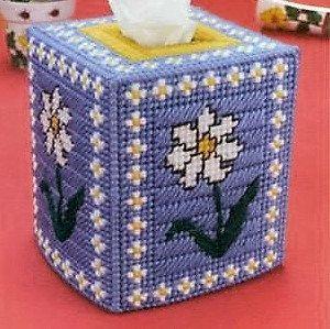 DELEGATE DAISY - Boutique Size Tissue Box Cover - Springtime Decor