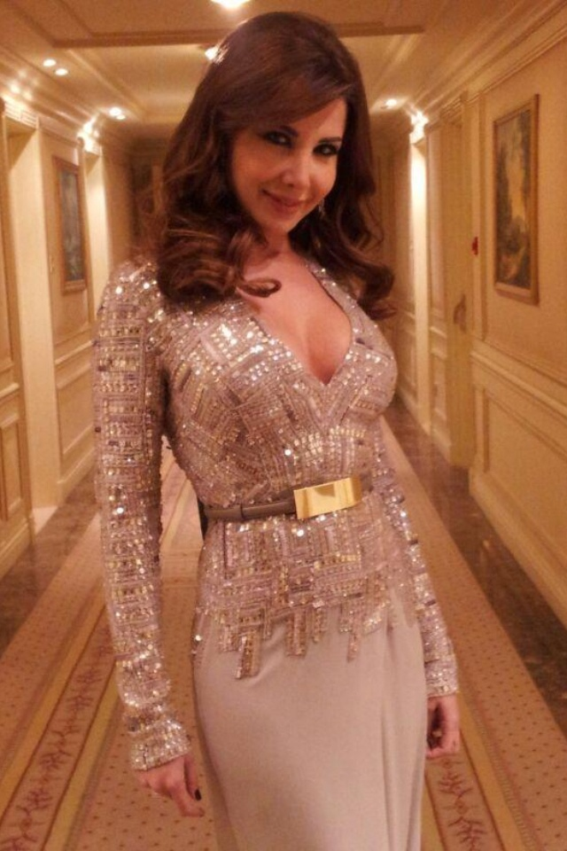 Nancy Ajram wearing Elie Saab