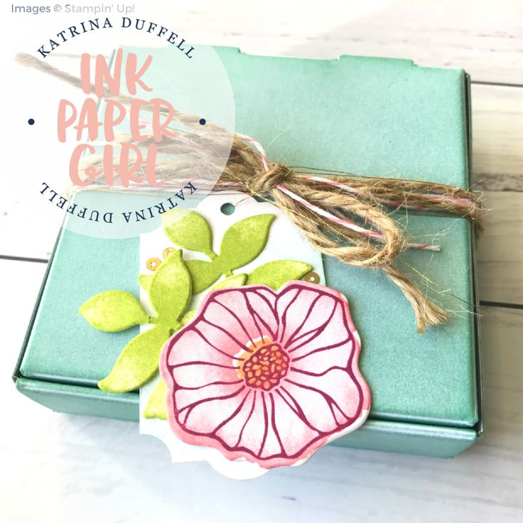 Celebrating Spring, Ink Paper Girl - Katrina Duffell Independent Stampin' Up! Demonstrator - Sydney Australia, Stampin' Up! 2017 Holiday Catalogue, Mini Pizza Box, Everyday Label Punch, Oh So Eclectic Bundle