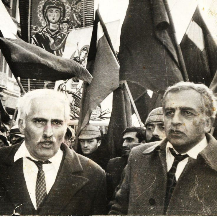 Merab Kostava (leader of the National-Liberation movement in Georgia) and Zviad Gamsakhurdia (First President of Georgia)