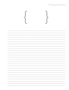 Blank Journal Pages- free printable