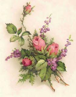 pictures of vintage flowers | Vintage Flower Prints - Roses