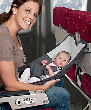 Home for the Holidays: Infant Travel | Daily deals for moms, babies and kids. I have a feeling Air Canada would not allow this unless you are in bulkhead seating... call your airline first.