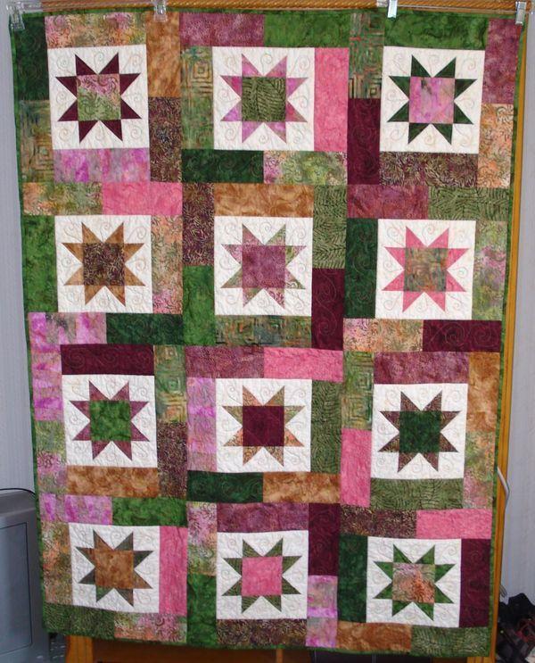 135 best Lucky Stars Quilt images on Pinterest | Lucky star, Star ... : lucky star quilt pattern - Adamdwight.com