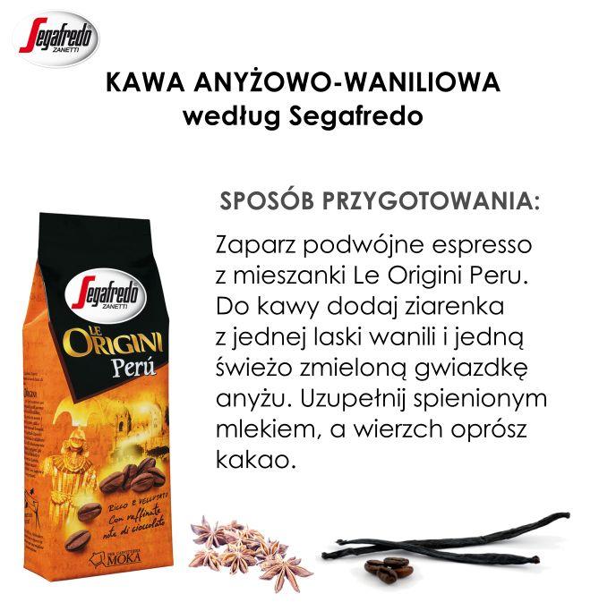 Szybki sposób na rozgrzanie? Kawa z aromatycznymi przyprawami! W roli głównej anyż i wanilia, dzięki którym popołudniowa kawa będzie zachwycać bogatym smakiem.#KlubSegafredo #KawaAnyżowoWaniliowa #LeOrginiPeru #JesiennaKawa #PrzyprawyDoKawy #DodatkiDoKawy