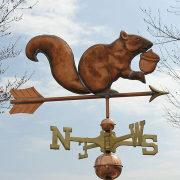 Copper Squirrel Weathervane