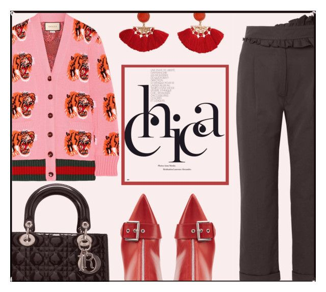 """""""C.H.I.C.A."""" by rasa-j ❤ liked on Polyvore featuring Carven, MANGO, Alexander McQueen, Christian Dior, Gucci, AlexanderMcQueen, ChristianDior, gucci, tassels and womensFashion"""
