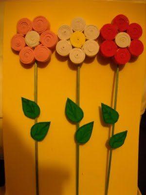 labores y varias flor en goma eva