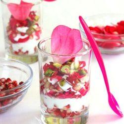 Rose petals, Pomegranates and Yogurt on Pinterest