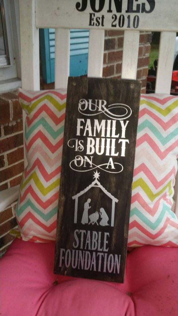 Wooden Our Family is Built on a Stable by SouthernJunkies on Etsy