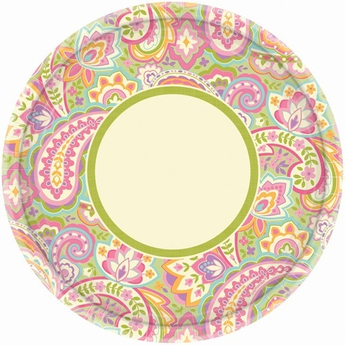 Pretty Paisley 10 inch Paper Plate