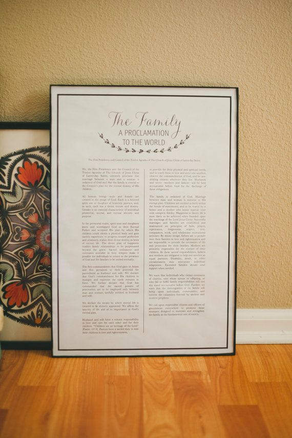 The Family A Proclamation to the World Instant by TheVintageBee11, $5.00