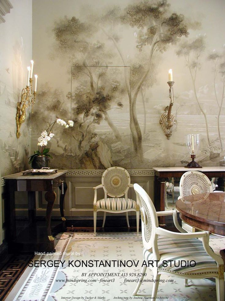 Hand Painted Wall Murals | paint by numbers wall mural | deckss.com