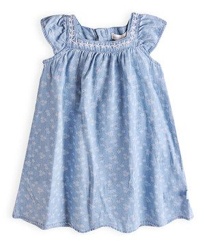 Look at this #zulilyfind! Miami Sky Chambray Dress by Pumpkin Patch #zulilyfinds