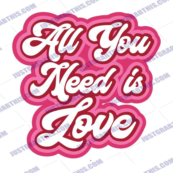 Download Retro All You Need Is Love SVG Files For Silhouette, Files ...