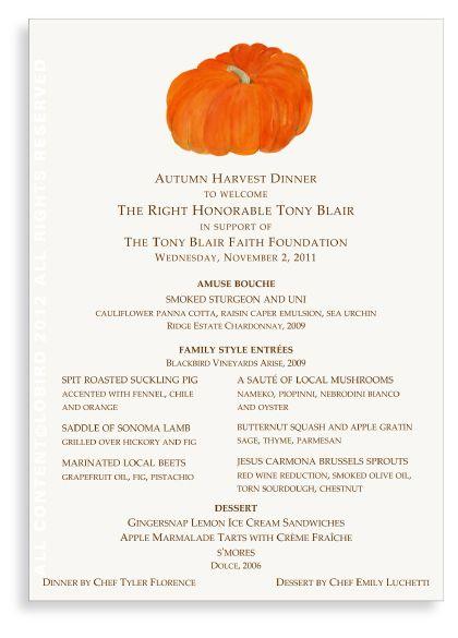 The Tony Blair Faith Foundation-menu cards designed by Lobird