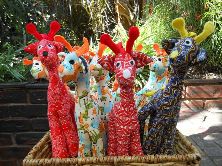 A basket full of giraffes!