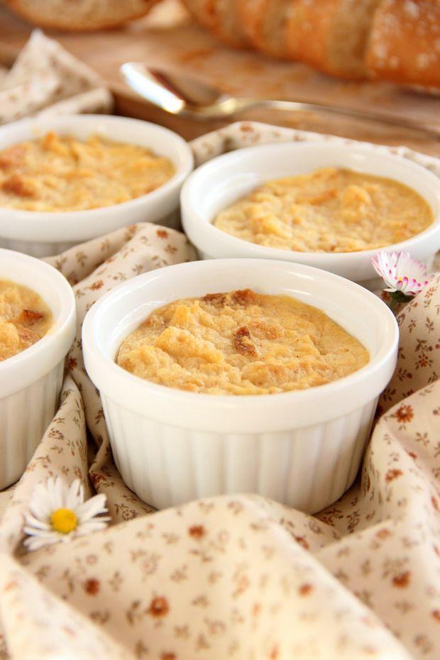Pudding de ricotta y compota de manzana