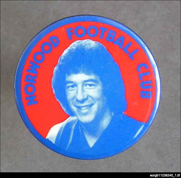Player badge featuring Brian Adamson who played in the 1978 premiership team after joining Norwood from West Perth in controversial circumstances