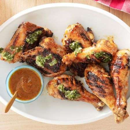 Chipotle-Mango Barbecue Chicken With Cilantro Chimichurri