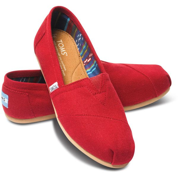 Women's Classics Canvas | TOMS (71 CAD) ❤ liked on Polyvore featuring shoes, toms footwear, canvas footwear, canvas shoes and toms shoes