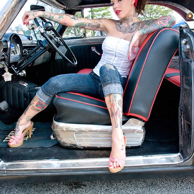 Modern pin up tattoo inked ink hot rod | PinUp Girls Hot ...