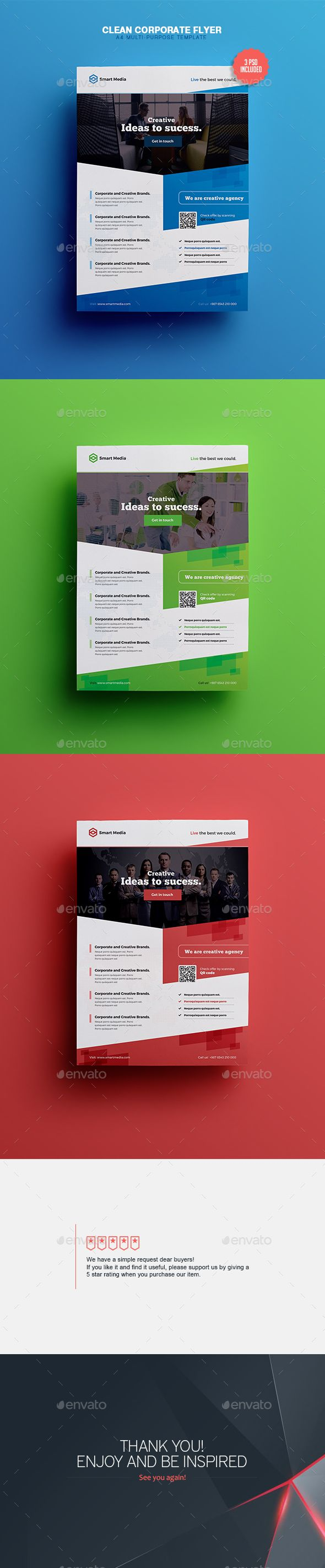 Clean & Corporate - A4 Flyer Template  #product #product promotion #product promotion flyer • Available here → http://graphicriver.net/item/clean-corporate-a4-flyer-template/15597490?ref=pxcr